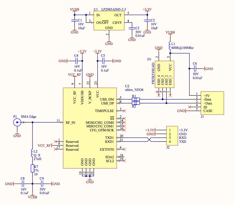 People:Kjeld Jensen:u-blox NEO-6P GPS module - FroboMind [www ... on gps jammer schematic, rs232 to usb adapter schematic, gps circuit boards, gps active antenna schematic, gps circuit component, gps circuit design,